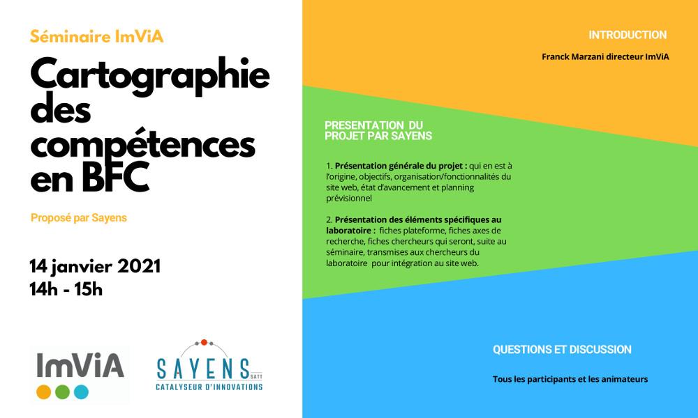 Séminaire ImViA : Cartographie des compétences en BFC avec Sayens